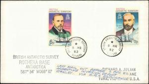 BRITISH ANTARCTIC TERRITORY 1982 8 MR CACHET SURVEY ( SEE NOTE )