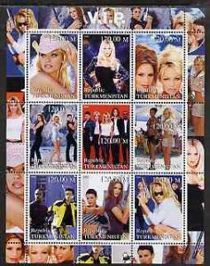 Turkmenistan 2000 VIP (TV Series) perf sheetlet containin...
