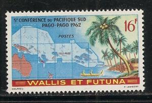 Wallis and Futuna Islands 158 1962 Map single MNH