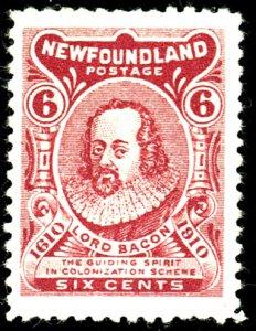 Newfoundland #92A MINT OG LH CORNER CREASE