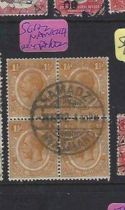NYASALAND  (P2109BB)  1932    KGV   1 1/2D SG 102  BL OF 4  NAMAZDI    CDS  VFU