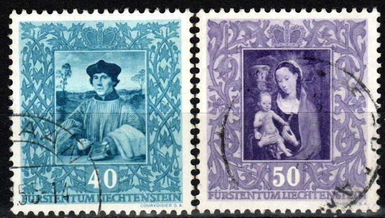 Liechtenstein #230-31 F-VF Used CV $7.65 (X8363)