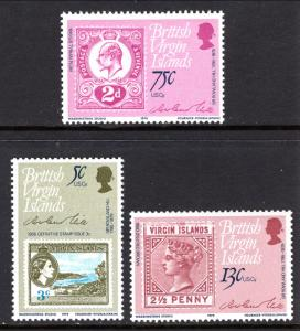 British Virgin Islands 360-362 Stamp on Stamp MNH VF