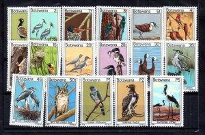 Botswana 1978 Birds MNH complete set SG411-427 WS17260