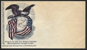 2 DIFF. EAGLE W/ FLAG CIVIL WAR PATRIOTIC COVERS BV3428