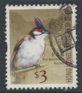Hong Kong SG 1408   Red Whiskered Bulbul  Used   see details