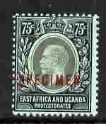 Kenya, Uganda & Tanganyika 1912-21 KG5 MCA 75c overprinte...