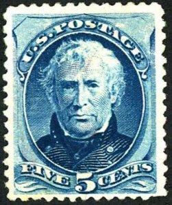 #179 – 1875 5c Zachary Taylor, blue. Used. XF.