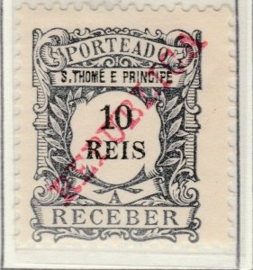 Portugal ST. THOMAS AND PRINCE ISLANDS 1911 10r MH* A5P55F24