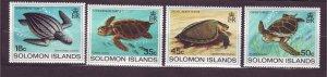 J23747 JLstamps 1983 solomon islands set mlh #489-92 turtles
