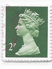 GB #MH28 2p  Queen Elizabeth II   (U) CV $3.00