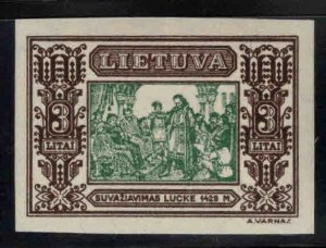 LITHUANIA LIETUVA Scott 271a MH* Imperforate stamp