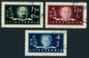 Yugoslavia B152-B154,CTO.Michel 545-547. Academy of Arts & Sciences,80.1948.
