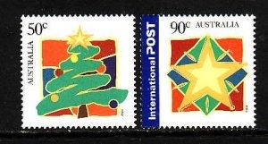 Australia-Sc#2183-4-unused NH set-Christmas-2003-