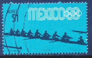 MEXICO C336, $1P Rowing 4th Pre-Olympic Set Used (774)