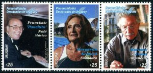 HERRICKSTAMP NEW ISSUES URUGUAY Famous Persons 2020 Strip of 3