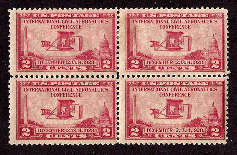 649 Mint,OG,HR/NH... Block of 4... SCV $5.70