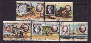 Niue-Sc#241-5- id5-used set-Stamp on stamp-Penny Black-1979-