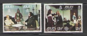 Jersey Sc 229-30 1980 Europa stamps mint NH