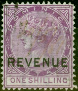 Dominica 1879 1s Magenta SGR3 Fine Used