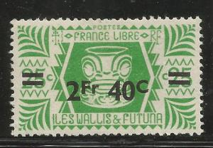 WALLIS ET FUTUNA  145 MINT HINGED, 1946 SURCHARGED ISSUE