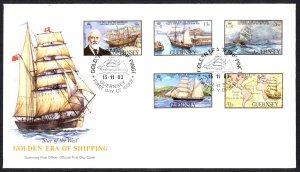 Guernsey Sc# 269-273 FDC 1983 11.15 Golden Era of Shipping