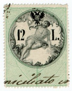 (I.B) Austria/Hungary Revenue : Stempelmarke 12L (Lombardy-Venetia)