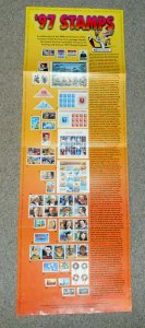 1997 stamp poster USPS 11 X 17 full year stamp commemorative issues