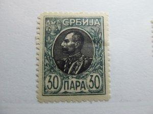 Serbien Serbia 1905-11 30p Perf 11½ Fine MH* A5P18F372