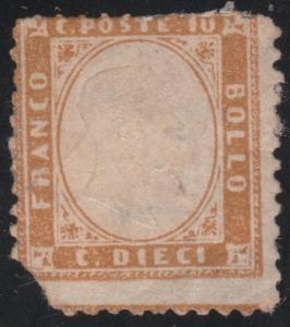 Italy 1862 Definitives King Viktor Emanuel II 10C Mi.9b c/v 8700 euro MH AM.294