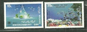 Maldives MNH 1284-5 World Environment Day