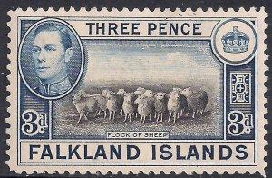 Falkland Islands 1938 - 50 KGV1 3d Flock of Sheep Umm SG 153 ( F351 )