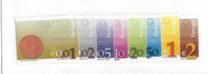 Portugal, 2455-62, Introduction of the Euro Singles, MNH