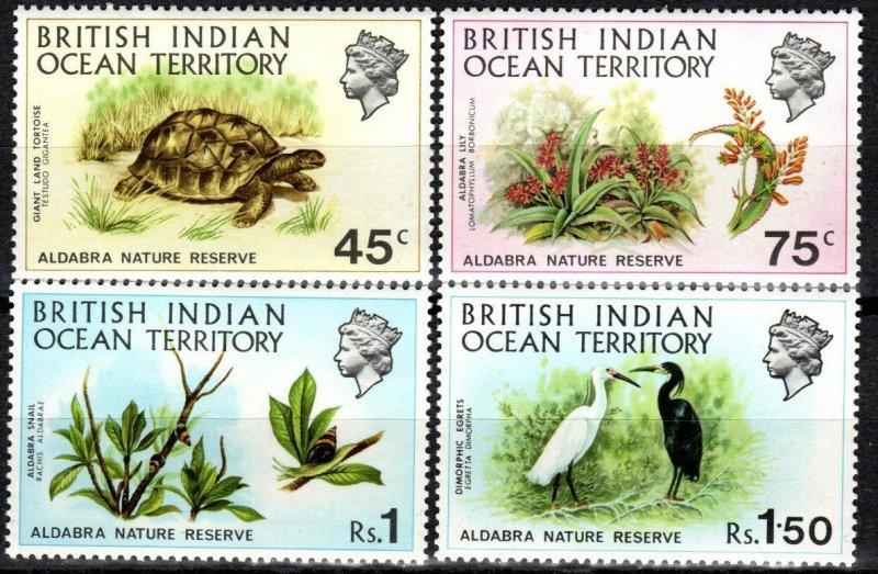 British Indian Ocean Territory #39-42 MNH CV $22.75 (X7435)
