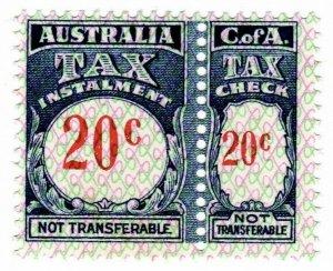 (I.B) Australia Revenue : Tax Instalment 20c