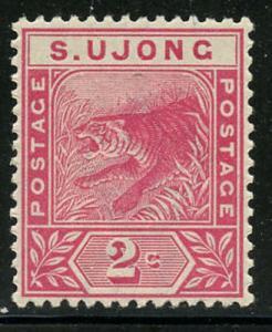 Malaya Sungei Ujong 1891 2d Rose Tiger Sc# 31 NH