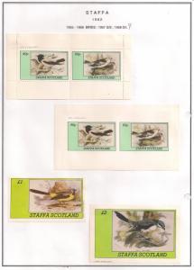 SCOTLAND - STAFFA - 1982 - Birds #22 - Perf, Imp 2v, Souv, D/L Sheets - MLH