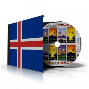 ICELAND STAMP ALBUM PAGES 1873-2011 (159 color illustrated pages)