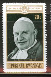 RWANDA Scott 391 Mint No Gum 1970 Pope stamp