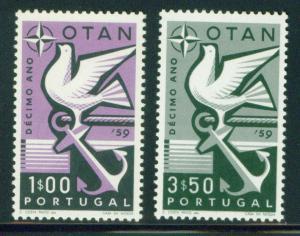 Portugal Scott 846-847 MNH** 1959 Nato Stamp set CV$3.60