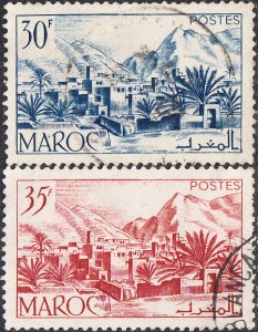 French Morocco #259-260 Used Set