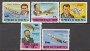 Burkina Faso, Sc 462-466, MNH, 1978, Aircraft