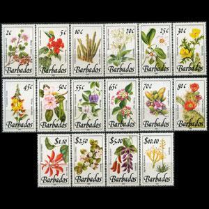 BARBADOS 1989 - Scott# 753-68 Wild Flowers Set of 16 NH
