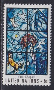 United Nations - New York # 180, Chagall Stained Glass Window, LH