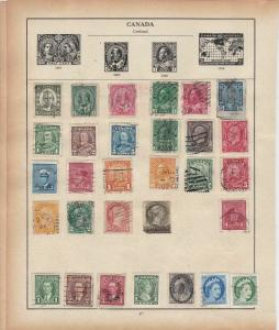 Canada Stamps on Album Page ref R18943