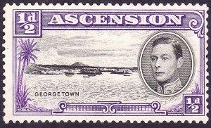 ASCENSION ISLAND 1938 1/2d Black & Violet SG38 MNG