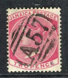JAMAICA; 1870 classic early QV issue fine used 2d. value, nice POSTMARK A57