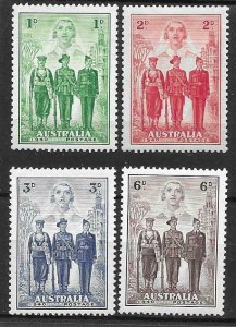 1940   AUSTRALIA  -  SG. 196 / 199  - IMPERIAL FORCES  -  MOUNTED MINT