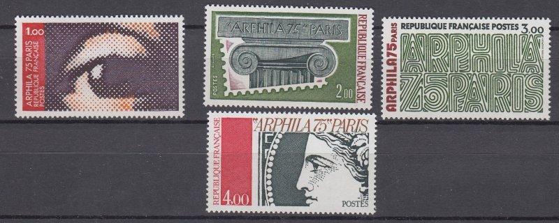 J28941 1975 france set mnh #1425-8 designs