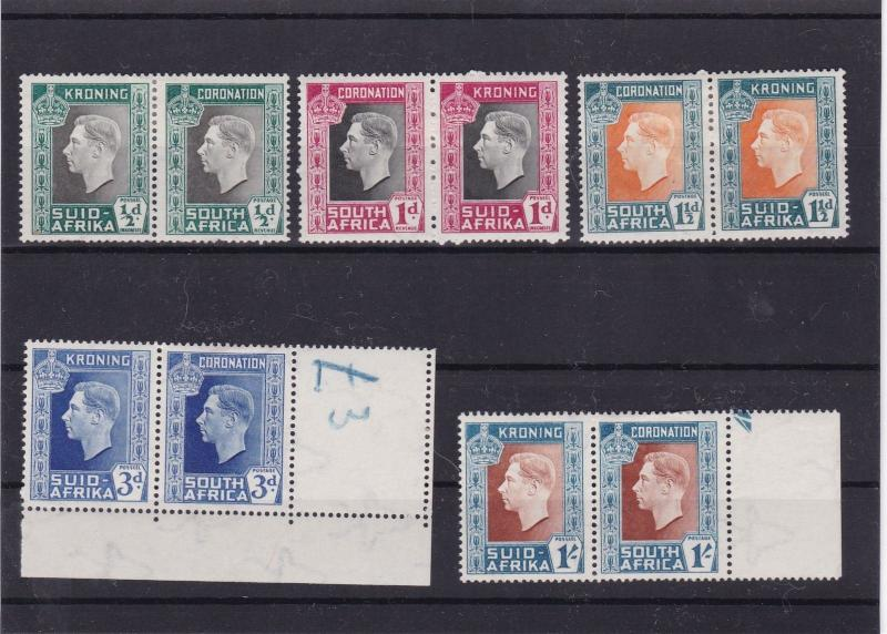 south africa mounted mint stamps pairs  ref 10464